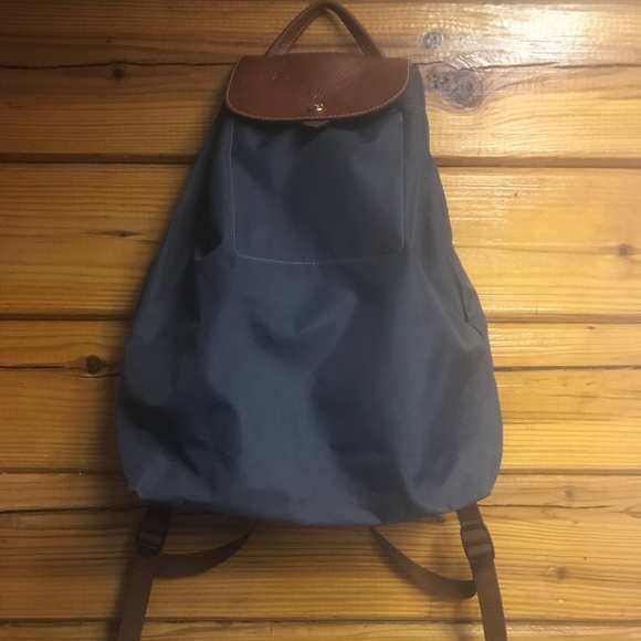 Longchamp Handbags - Longchamp Navy Blue Small Canvas Backpack purse 27b65f9b588b9